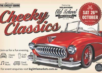 Cheeky Classics Car Show | Sat 26 Oct 2019 | 5pm – 10pm